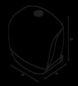Toapappershållare Katrin Gigantbox S Plast